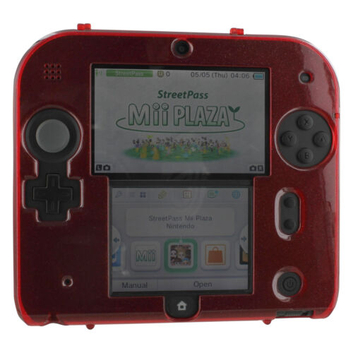 ZedLabz plastic hard case for Nintendo 2DS - polycarbonate cover shell - Red