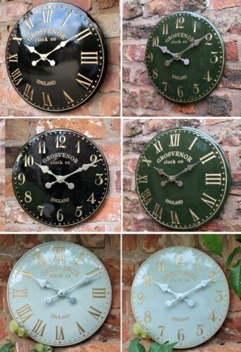 Outdoor indoor Garden Wall Station Church Clock Tower Clock Hand Painted  <br/> 8 different sizes and designs