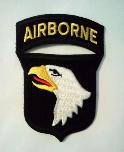 """101st Airborne Patch with Rocker Iron or Sew on   3"""" x 2 1/4"""" Army - 48824"""