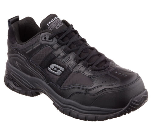 77013 Skechers Men's SOFT STRIDE-GRINNELL Work Shoes Composite Toe Black