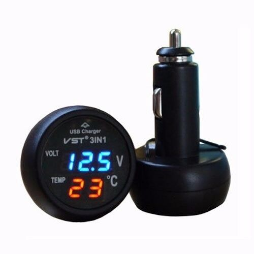 USB Car Charger Cigaretter LED 12V 24V Volt Battery Voltage Tester Monitor Meter