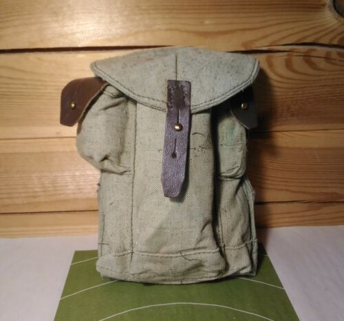 USSR Original Magazines Ammo Pouch Canvas Bag for 3 Mags Soviet Military SurplusOther Militaria - 135