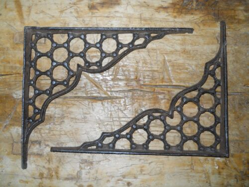 6 Cast Iron Antique Style LARGE RING Brackets, Garden Braces Shelf Bracket