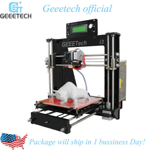 Print 5 materials Geeetech Reprap Prusa I3 Pro B 3D Printer MK8 shipped from USA