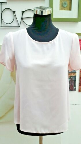 DOROTHY PERKINS BABY PINK BASIC BLOUSE/TOP WITH DEEP BACK HEM SIZES 8 to20