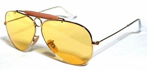 RAY BAN 3138 58 SHOOTER GOLD ORO YELLOW GIALLO AMBERMATIC PERSONALIZZATO REMIX <br/> JOHNNY DEEP PAURA E DELIRIO FEAR LOATHING IN LAS VEGAS