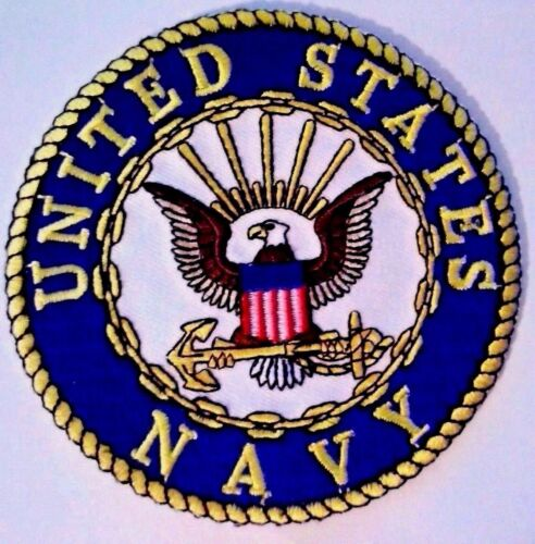"""U.S. Navy Patch 3"""" Iron on or Sewn onNavy - 48826"""