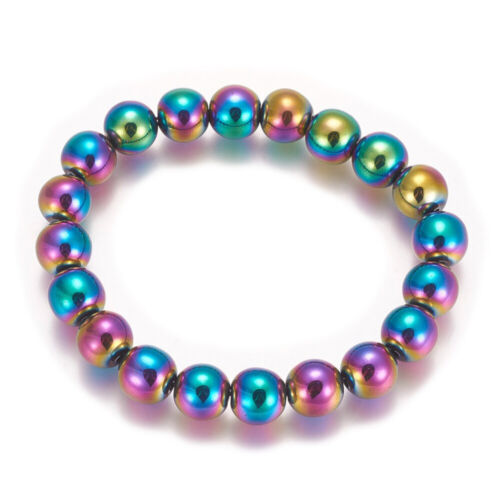Electroplated Magnetic Hematite Stretch Bracelet Pain Relief Energy Powerful
