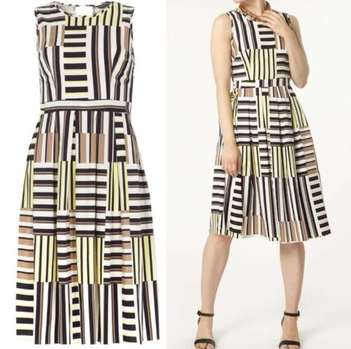 DOROTHY PERKINS  CUTABOUT STRIPE COTTON TEA DRESS FIT and FLARE STYLE SIZES 8-16