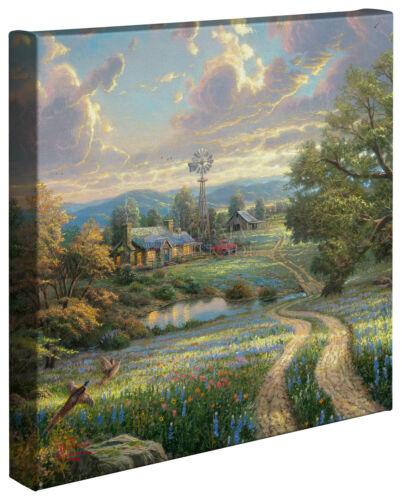 Thomas Kinkade Country Living 14 x 14 Gallery Wrapped Canvas
