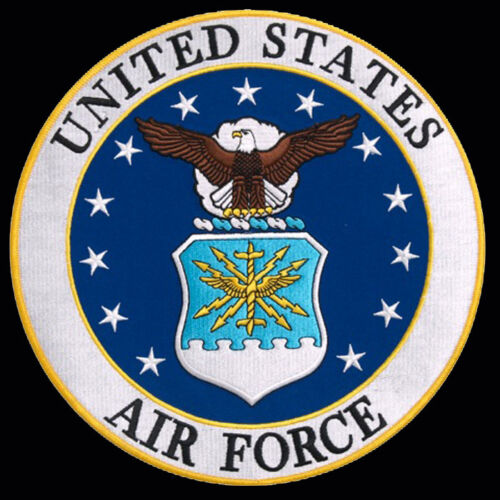 US Air Force logo  EMBROIDERED 3 inch IRON ON MILITARY PATCH BY MILTACUSAAir Force - 48823