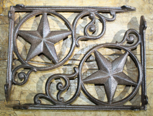 8 Cast Iron Antique Style Star Brackets, Garden Braces Shelf Bracket RUSTIC