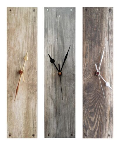 Stunning Grey Wood Look Rectangle Wall Clock (portrait or landscape)