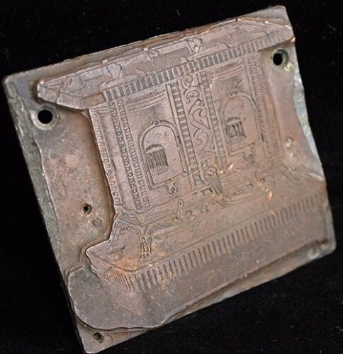 Antique 1890's Copper and Lead Coal Stove Advertising Printing Plate
