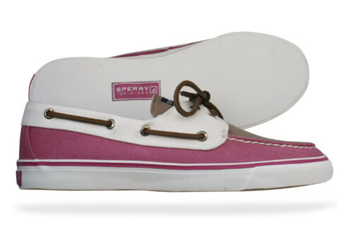 Ladies Sperry Top-Sider Bahama Raspberry / Grege / White Deck / Boat Shoes