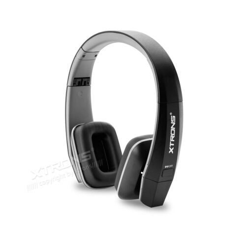 AU XTRONS Dual 2 channels Stereo Headphone IR Infrared Wireless Foldable Headset