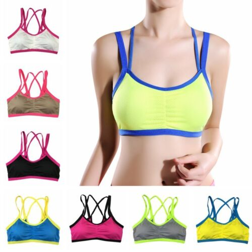 Women Sports Yoga Bra Workout Fitness Tank Top Stretch Seamless Racerback Padded