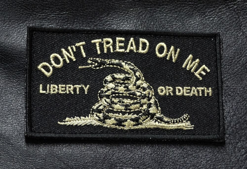 DONT TREAD ON ME LIBERTY OR DEATH TACTICAL HOMELAND HOOK PATCH BY MILTACUSAArmy - 48824
