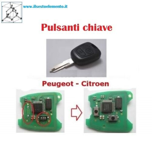 2PZ MICRO SWITCH PULSANTE X COVER CHIAVE PEUGEOT CITROEN - TOYOTA AYGO