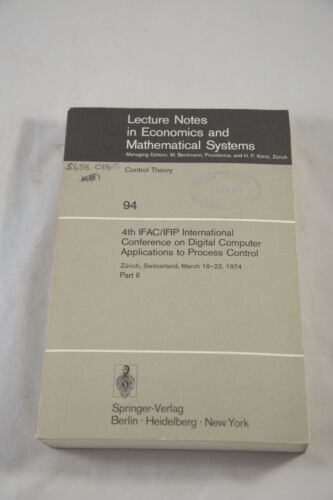 LECTURE NOTES IN ECONOMICS & MATHEMATICAL SYSTEMS – CONTROL THEORY ED.  BECKMANN