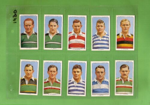 #D221.  1935  RUGBY INTERNATIONALS CIGARETTE CARDS, FULL SETRugby Union Cards - 2969