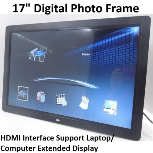 """17"""" LED HD 1080P Digital Photo Frame as Extended Monitor TFT Modules with Remote"""
