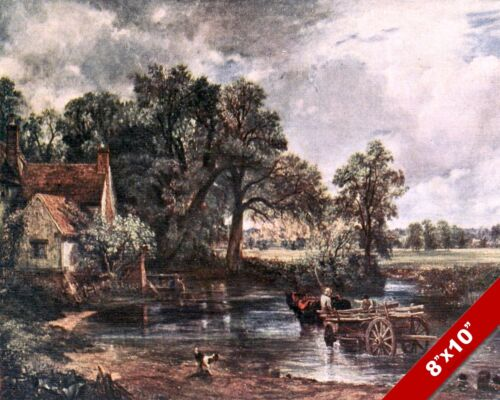 HAY WAIN ENGLAND ENGLISH COUNTRYSIDE LANDSCAPE ART PAINTING REAL CANVAS PRINT