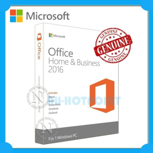 Microsoft Office Home & Business 2016 Retail for Window 1 PC w/ Outlook+OneNote