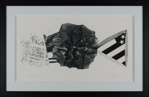 James Rosenquist - Black Triangle (State II), hand-signed etching, Framed