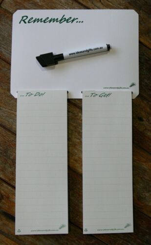 A5 Shopping List Fridge Magnetic Notepad Family Reminder Whiteboard Office Memo