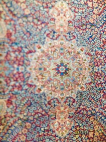 Genuine Handwoven Oriental Area Rug 8' x 5' Old Authenticated