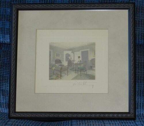 VINTAGE WALLACE NUTTING Signed and Hand Tinted, Just proffeionally Matted &Frame
