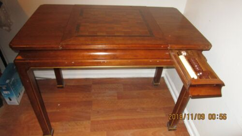 Vintage John Widdicomb chess/back gammon gaming table 38 x 29 x 21.5""