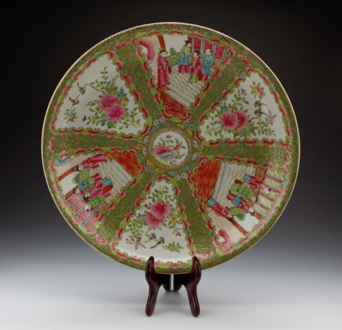Large Chinese Famille Rose Medallion Qing Tongzhi Style Porcelain Charger Plate