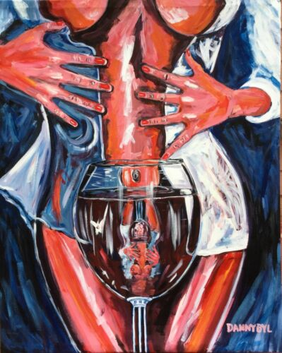 10 Sexy Fantasy Babe Original Paintings Contemporary Fine ART Dan Byl Large 4x5'