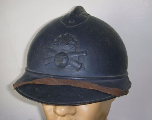 WWI M1915 French Army Artillery Adrian Helmet from AFS Driver Lt. Bown's EstateFrance - 13964