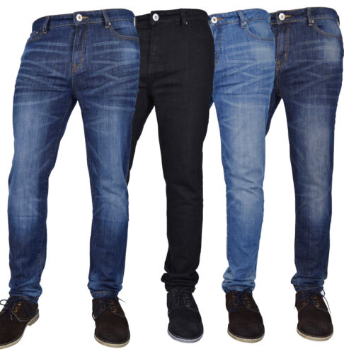 NEW MENS FLEX SKINNY JEANS STRETCH SLIM FIT DENIM PANTS ALL WAIST & LENGTH <br/> Great Quality, Great Value, Stretch, Skinny Faded Jeans