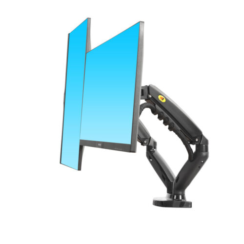 NEW F160— Dual Screen Gas-strut Monitor Stand Mount Desktop Bracket for LED/LC