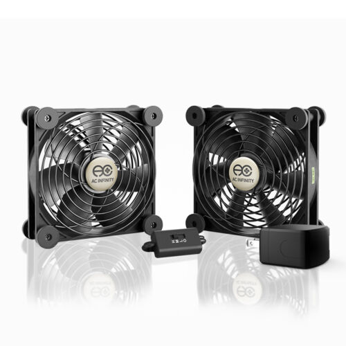 MULTIFAN S7-P, Quiet Dual 120mm AC-Powered Cooling Fan for Receiver DVR Cabinets