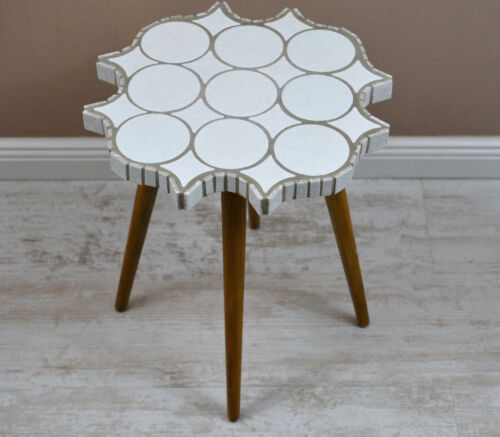 Rare German Mid Century Modern Plant Stand with Tile´s  Table Stool