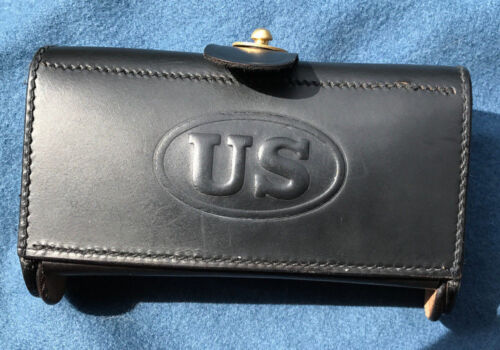 Army M1874 McKeever Leather Ammo Pouch Type 1 for .45-70 Springfield Indian WarsReproductions - 156384