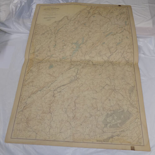 1888 Topographical Map of New Jersey/CENTRAL HIGHLANDS/MORRIS, SUSSEX/27 x 36""