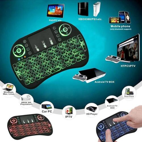 LED Backlight Mini Wireless 2.4GHz Keyboard Remote Control Touchpad for PC TV