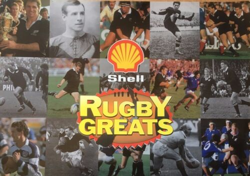 1992 Shell Rugby Greats, Cards & Album, Complete New Zealand VGCRugby Union Cards - 2969