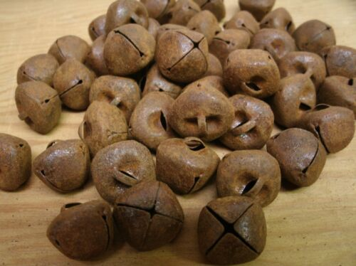 Lot of 45 Rusty Jingle Bells 18mm Primitve Rustic Country crafting