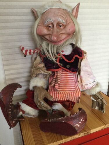 Vintage Holiday Window Store Display Life Size Elf, Gnome, Goblin, Christmas