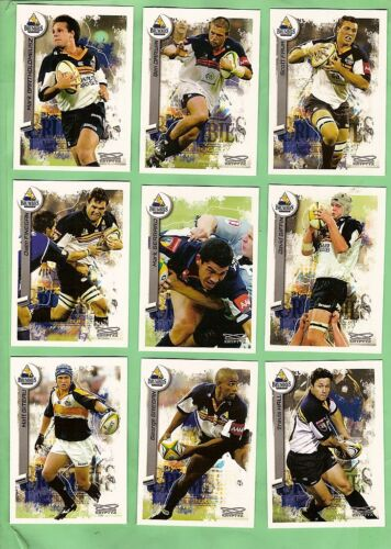 2003  ACT BRUMBIES  RUGBY UNION CARDS Rugby Union Cards - 2969