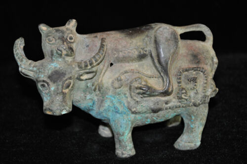ANCIENT CHINESE DIAN STYLE BRONZE SCULPTURE