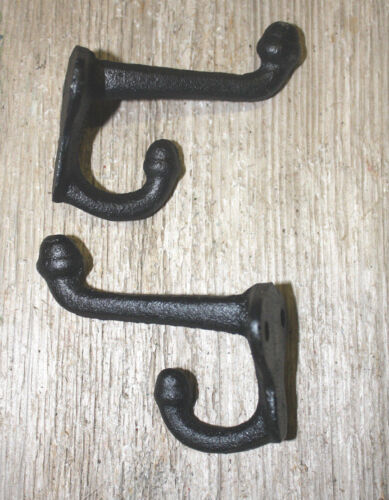 100 Cast Iron Black School Style Coat Hooks Hat Hook Rack Hall Tree Restoration