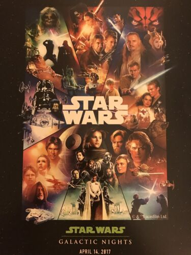 New Disney Star Wars Galactic Nights 2017 Poster And Event Stickers!